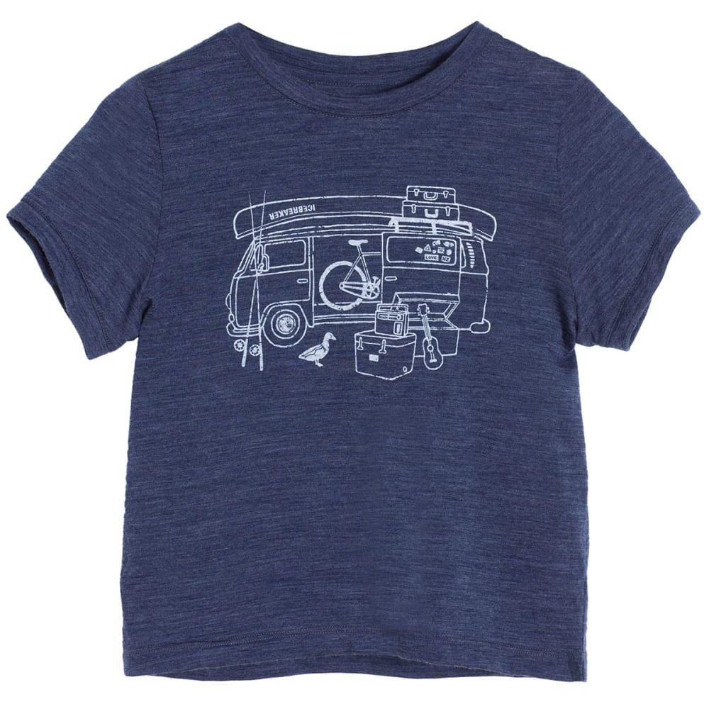 ICEBREAKER Boys' Tech T Lite Short-Sleeve Shirt - FATHOM