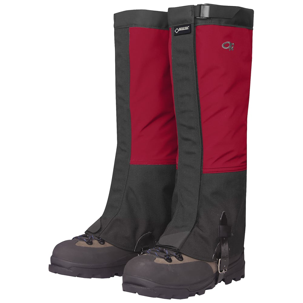 OUTDOOR RESEARCH Men's Crocodiles Gaiters - CHILI/BLACK-0413