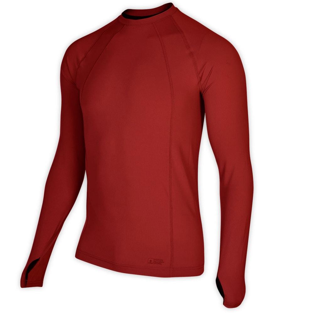 EMS® Men's Techwick® Lightweight Long-Sleeve Crew Baselayer - DEEP RED