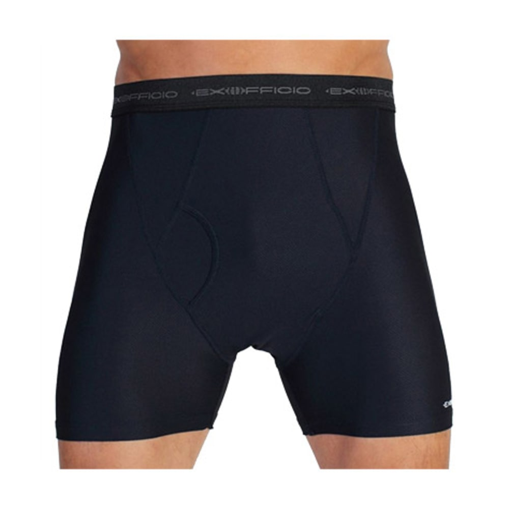 EXOFFICIO Men's Give-N-Go Boxer Briefs  - BLACK