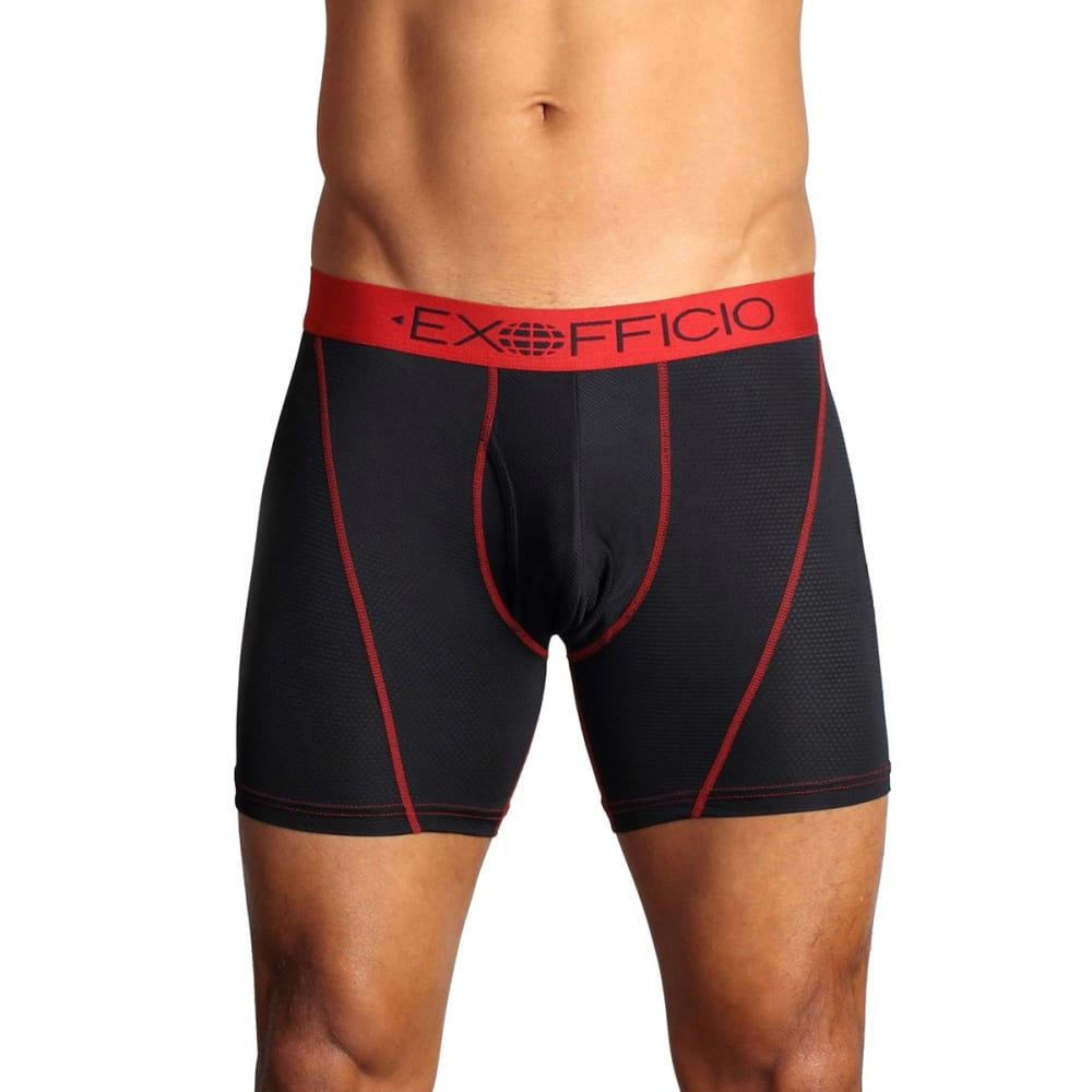 EXOFFICIO Men's Give-N-Go Mesh Boxer Briefs, 6 in.  - BLACK