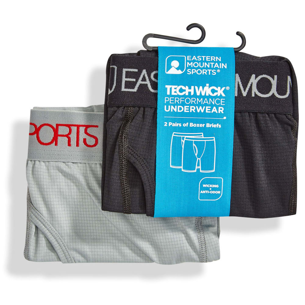 EMS® Men's Techwick® Body Boxer Briefs  - JET BLACK
