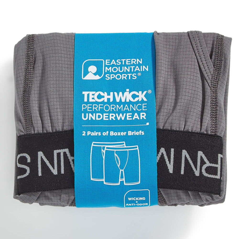 EMS Men's Techwick Body Boxer Briefs - PEWTER