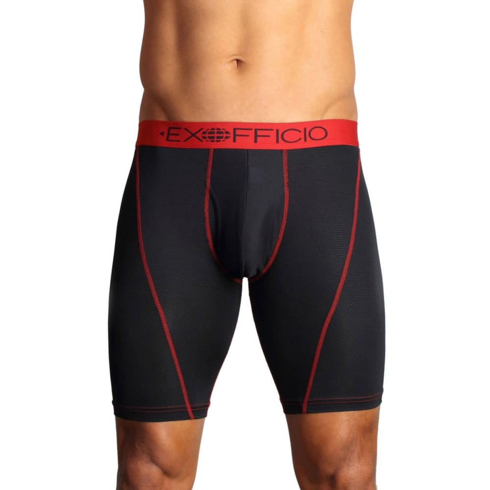 EXOFFICIO Men's Give-N-Go Sport Mesh 9 in. Boxer - BLACK