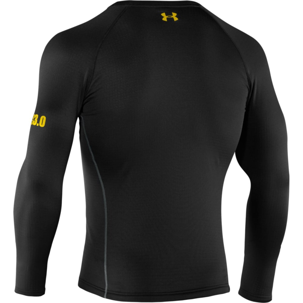 UNDER ARMOUR Men's Base 3.0 Crew - BLACK