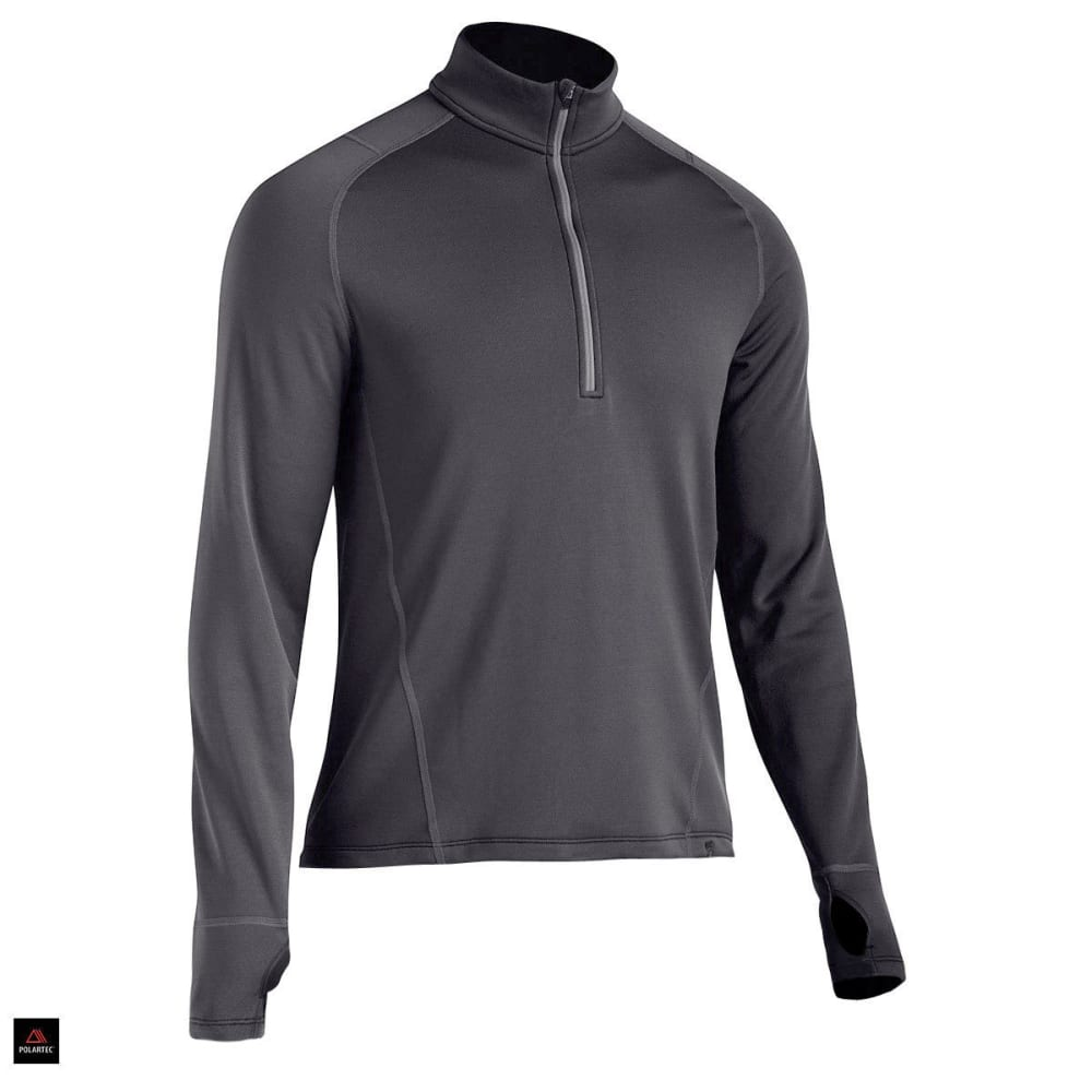 EMS® Men's Techwick® Heavyweight ¼ Zip Baselayer  - JET BLACK