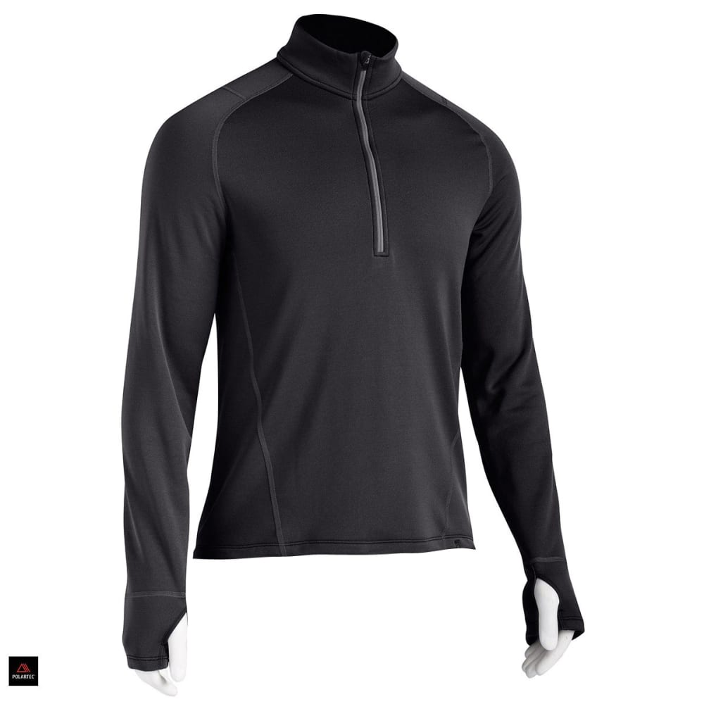 EMS® Men's Techwick® Heavyweight ¼ Zip Baselayer - BLACK
