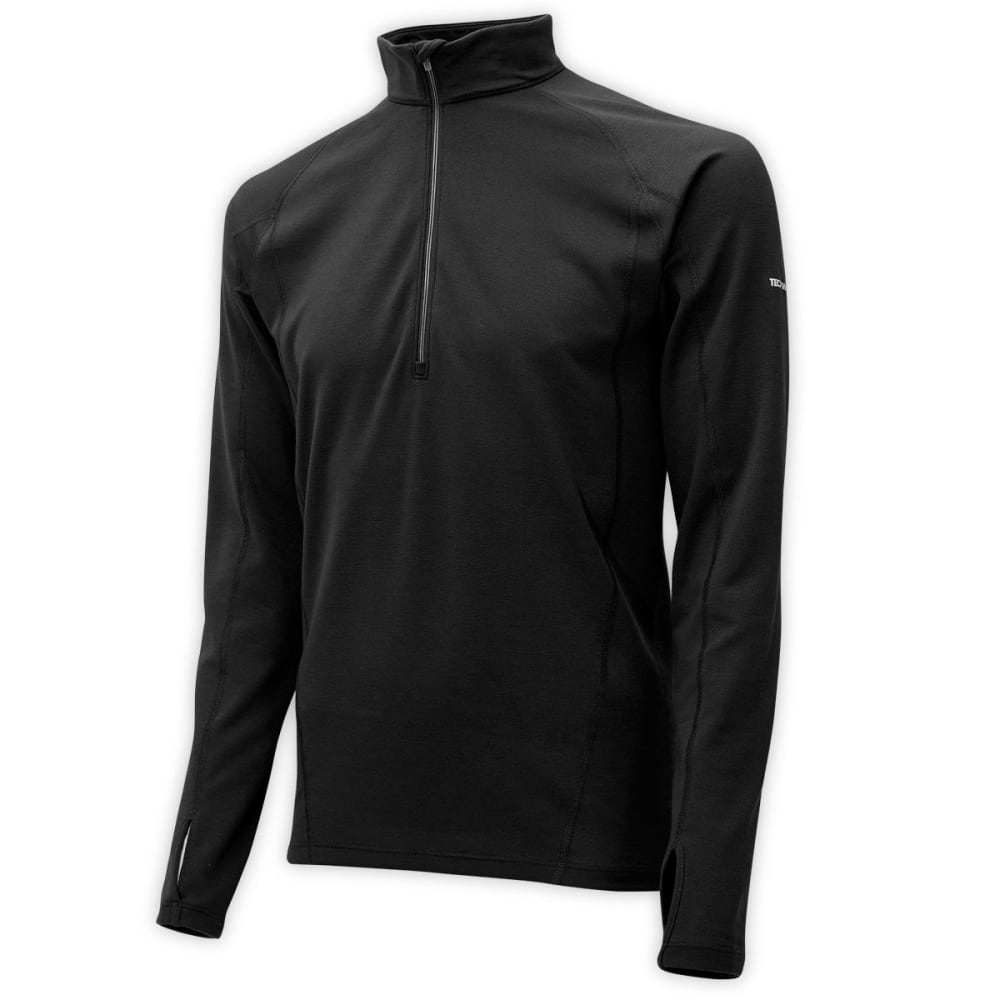 EMS® Men's Techwick® Midweight ½ Zip Baselayer - JET BLACK