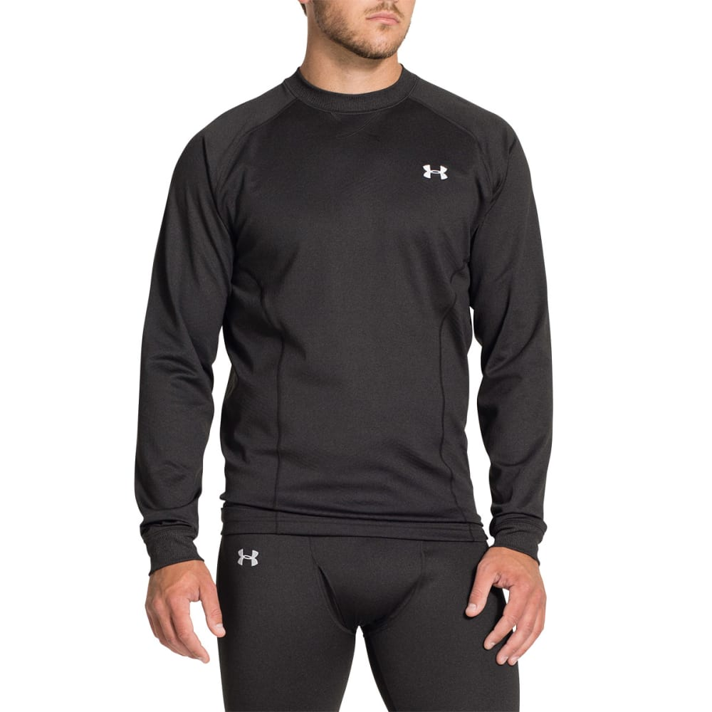 UNDER ARMOUR Men's ColdGear Devo Crew - ASPHALT GREY HEATHER
