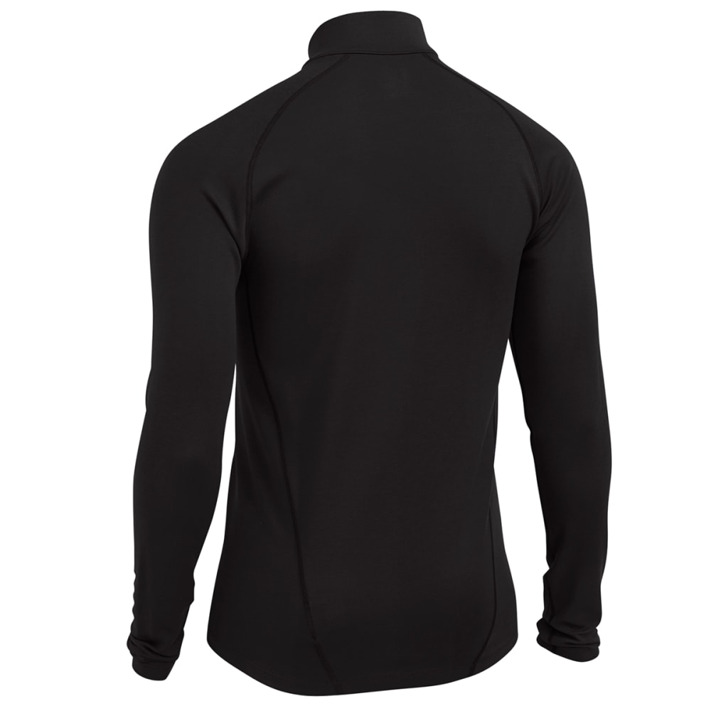 EMS® Men's Techwick® Midweight ¼ Zip Baselayer  - JET BLACK