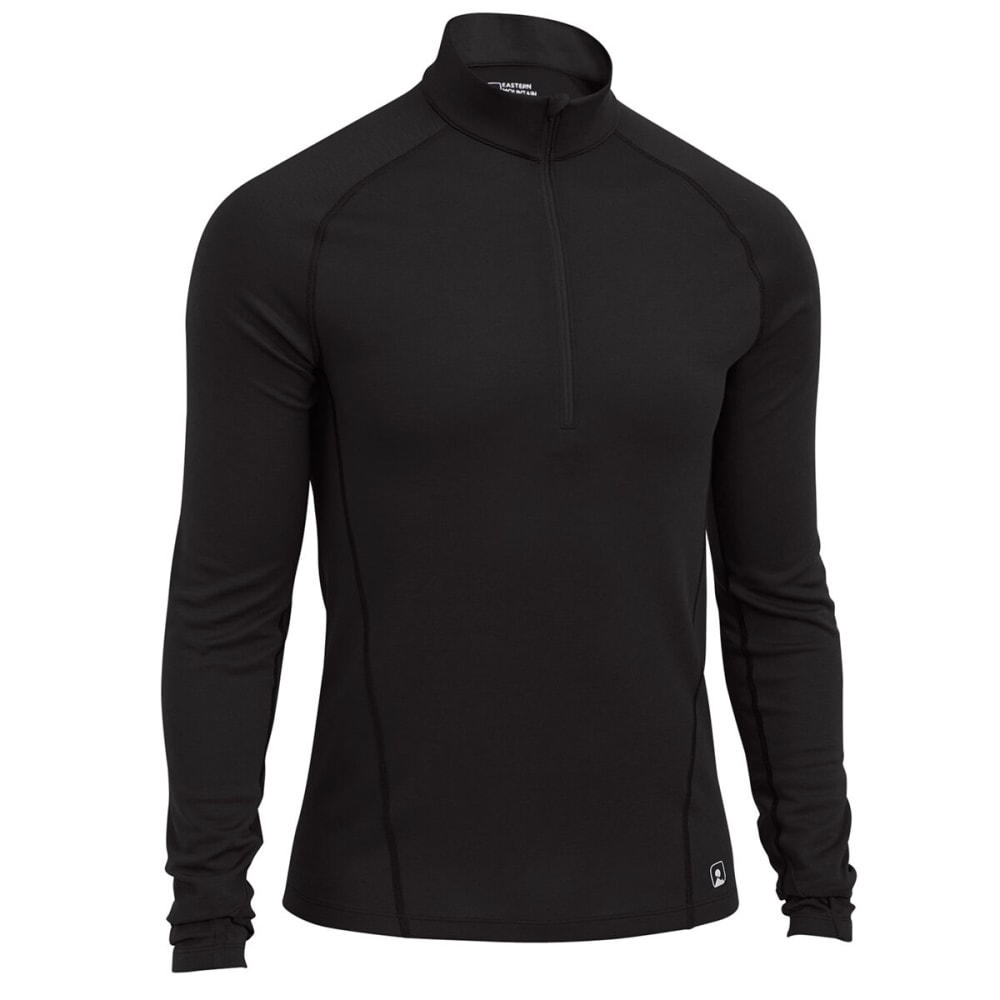 EMS® Men's Techwick® Midweight ¼ Zip Baselayer  - BLACK