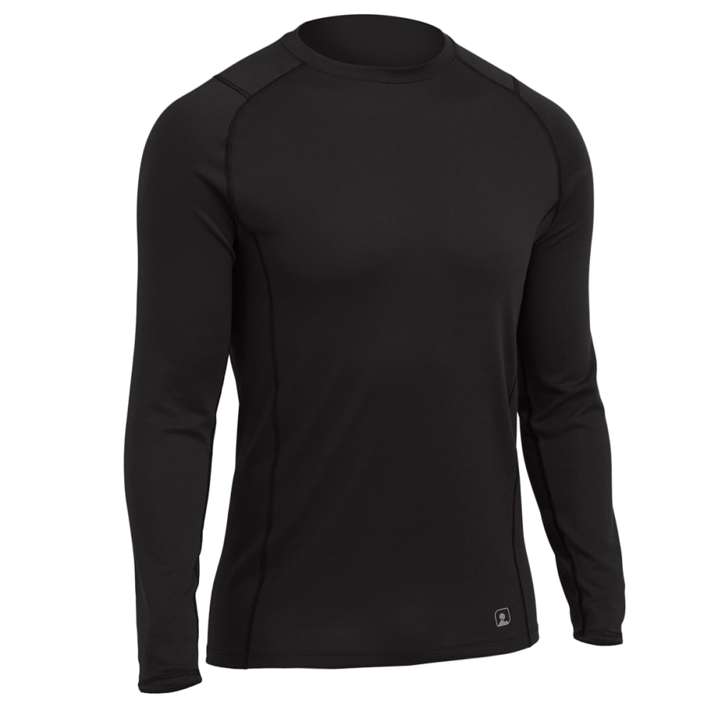 EMS® Men's Techwick® Midweight Long-Sleeve Crew Baselayer  - BLACK