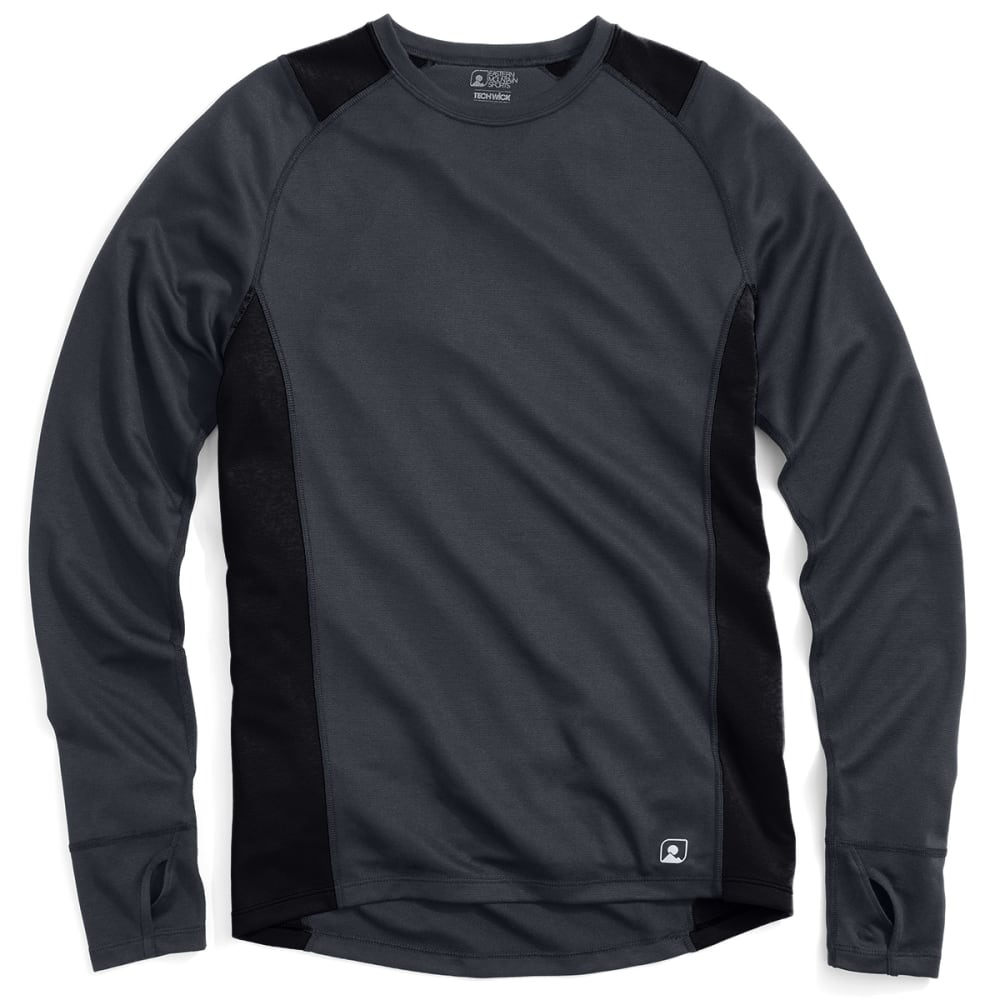 EMS® Men's Techwick® Midweight Long-Sleeve Crew Baselayer  - EBONY