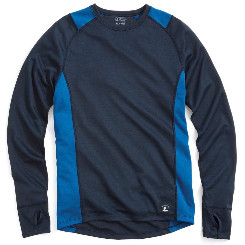EMS® Men's Techwick® Midweight Long-Sleeve Crew Baselayer  - NAVY