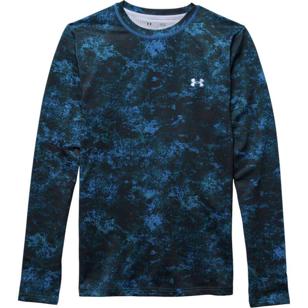 UNDER ARMOUR Men's ColdGear® Infrared EVO Fitted Crew - BLUE JET