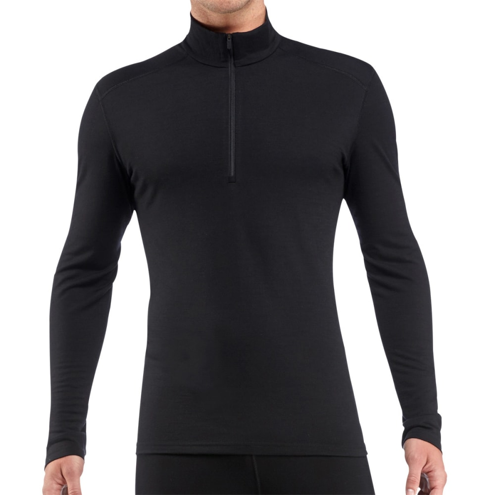 ICEBREAKER Men's Oasis Lightweight 1/2 Zip, L/S - BLACK