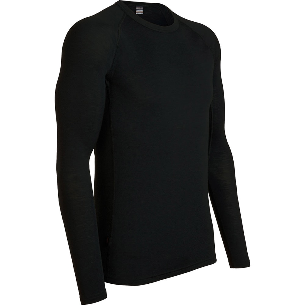 ICEBREAKER Men's Everyday Lightweight Crew, L/S - BLACK-001