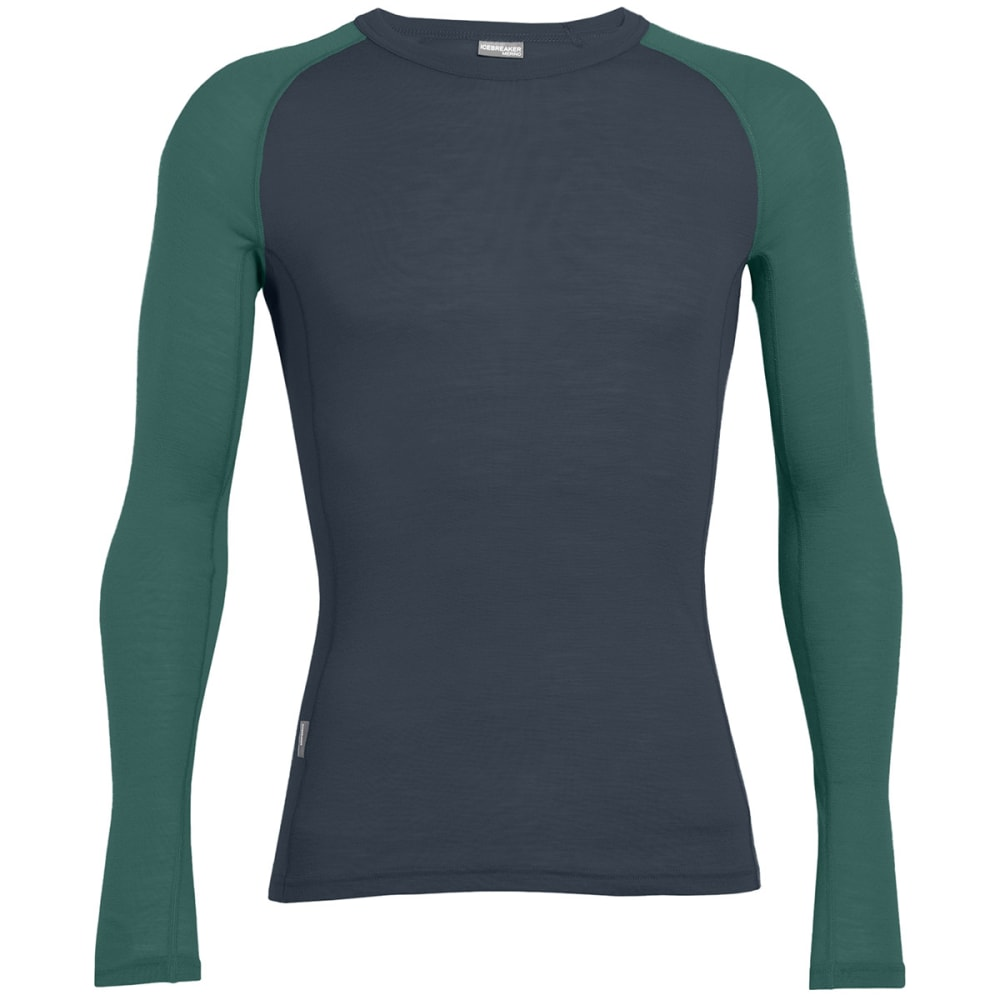ICEBREAKER Men's Everyday Lightweight Crew, L/S - STEALTH/CANOE-007