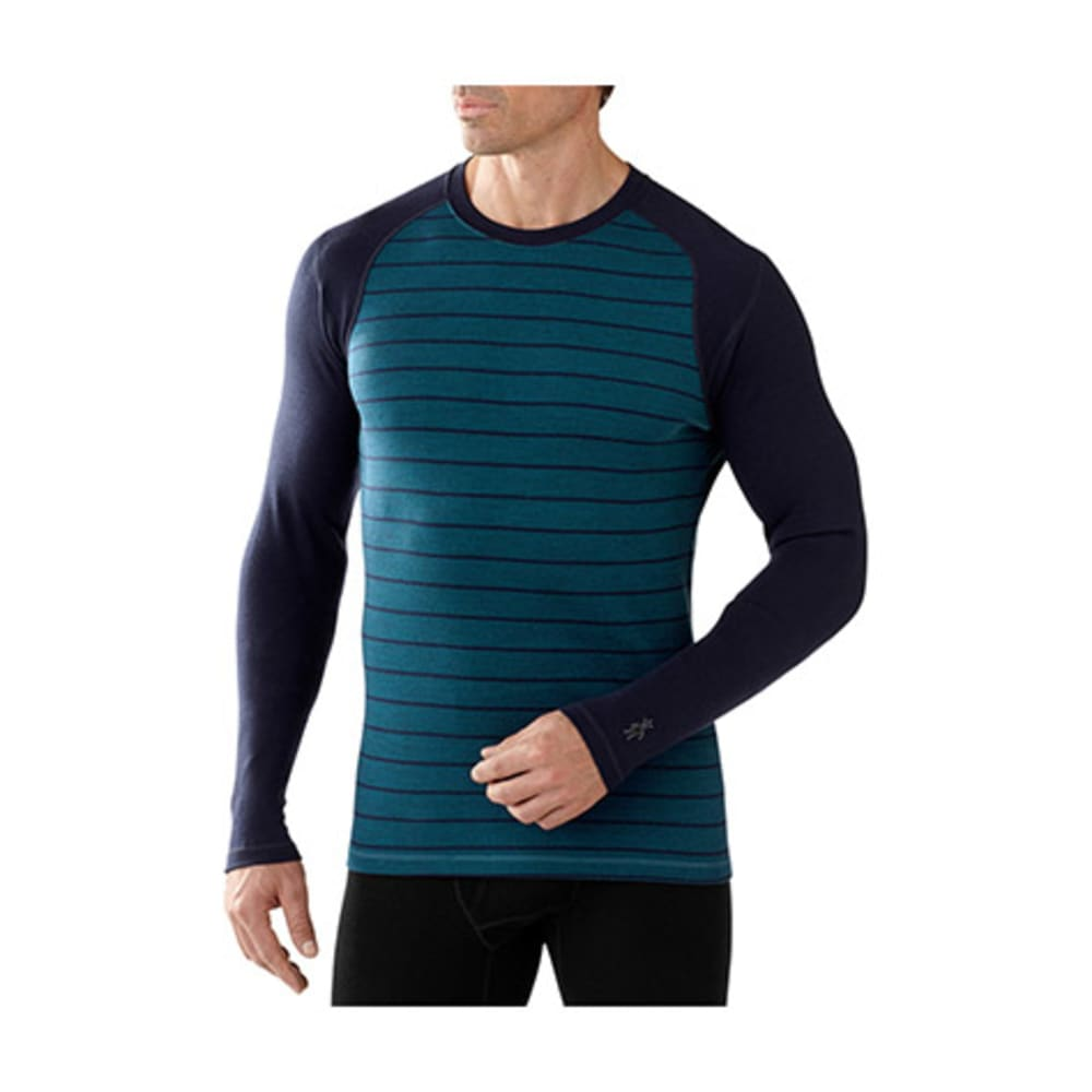 SMARTWOOL Men's NTS Mid 250 Pattern Crew - DEEP SEA