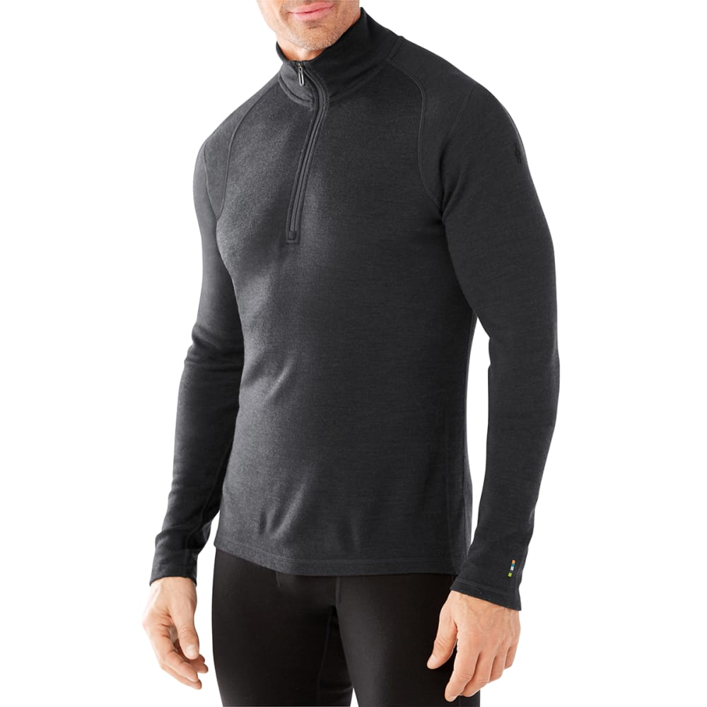 SMARTWOOL Men's NTS Mid 250 Zip T - CHARCOAL-003