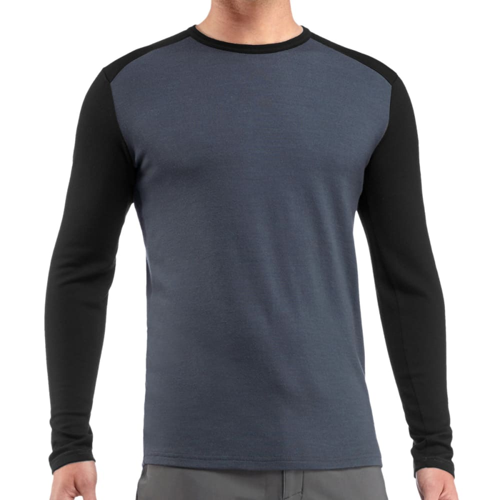 ICEBREAKER Men's Tech Top Midweight Crew, L/S - MONSOON/BLACK