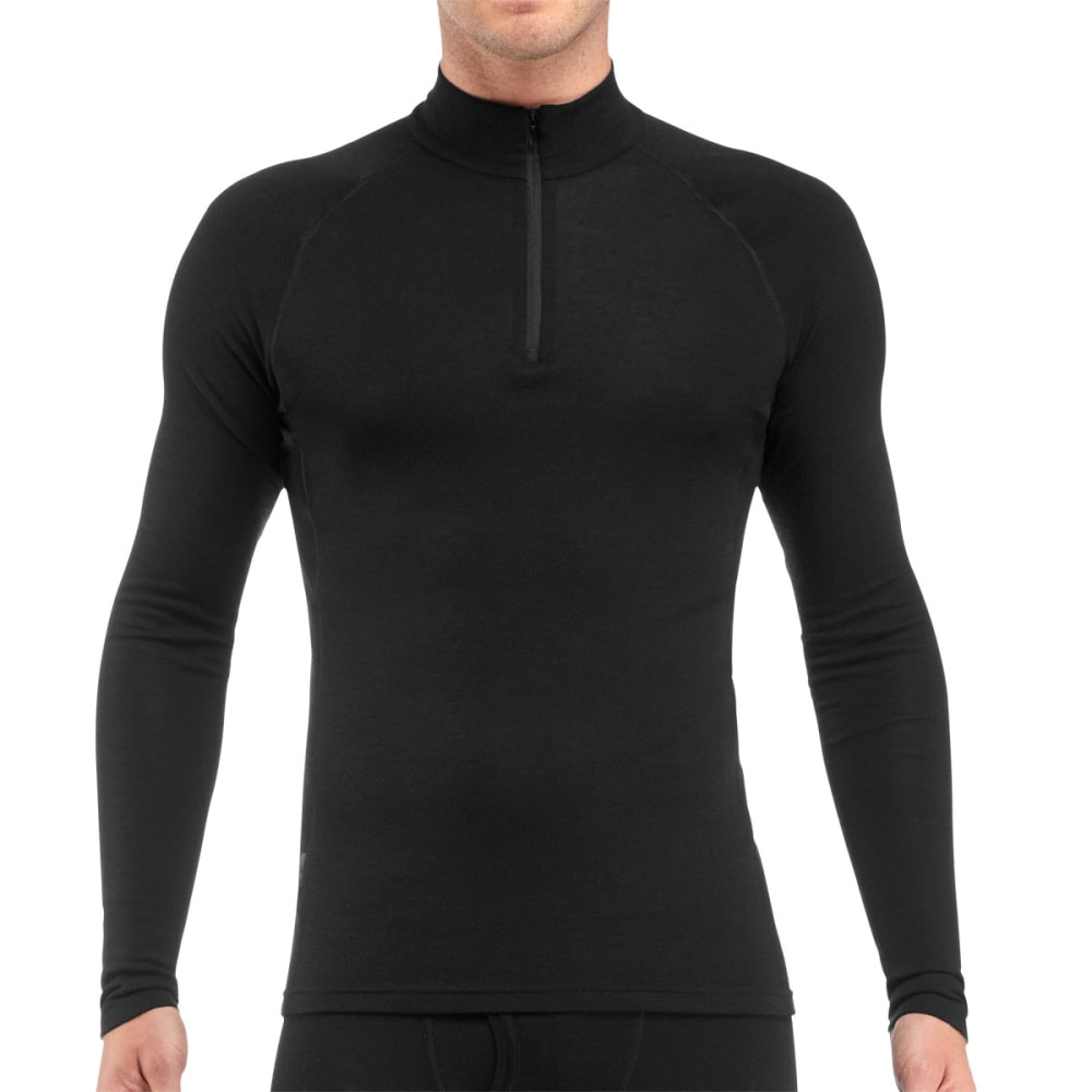 ICEBREAKER Men's Everyday Lightweight 1/2 Zip, L/S - BLACK-001