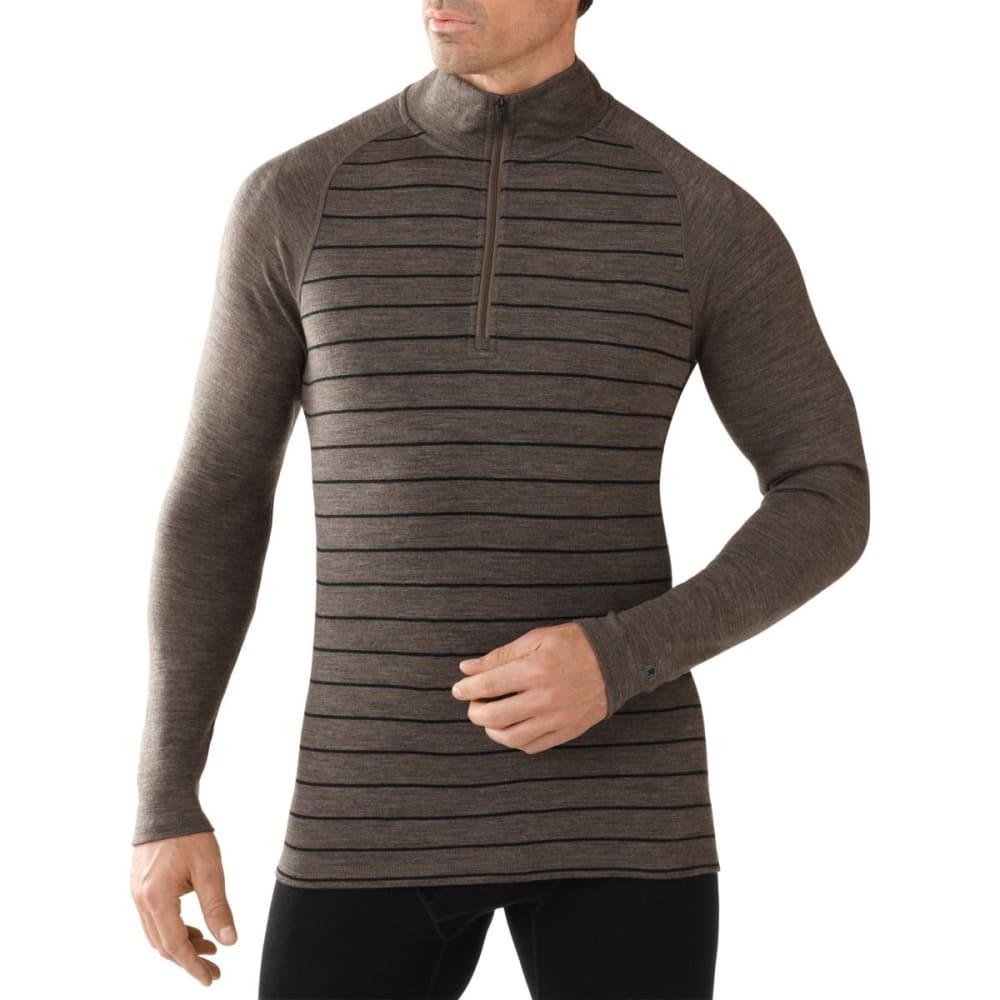 SMARTWOOL Men's NTS Mid 250 Pattern ¼ Zip - TAUPE HEATHER/BLACK
