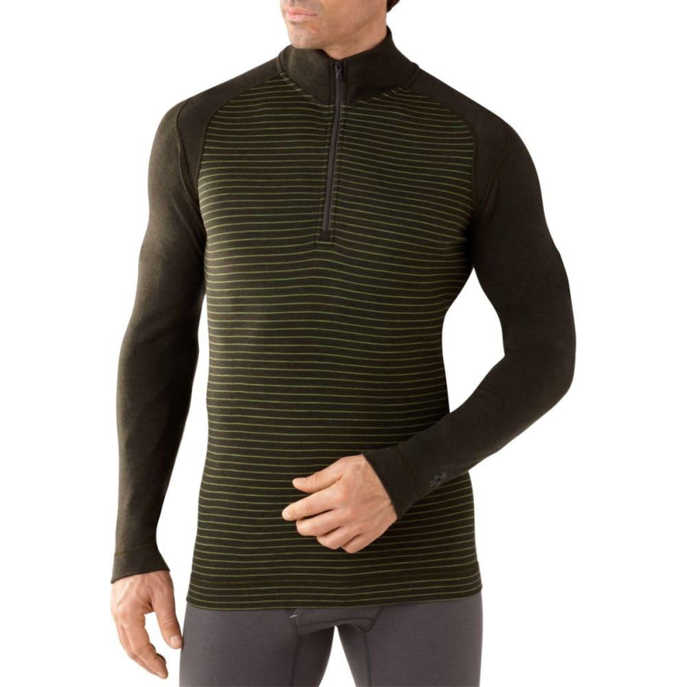 SMARTWOOL Men's NTS Mid 250 Pattern ¼ Zip - OLIVE HEATHER