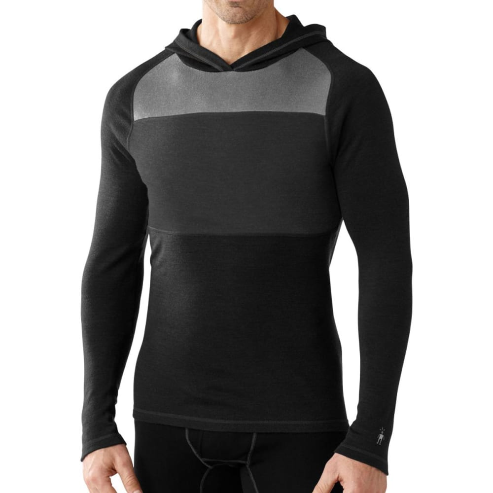 SMARTWOOL Men's NTS Mid 250 Color Block Hoodie - BLACK