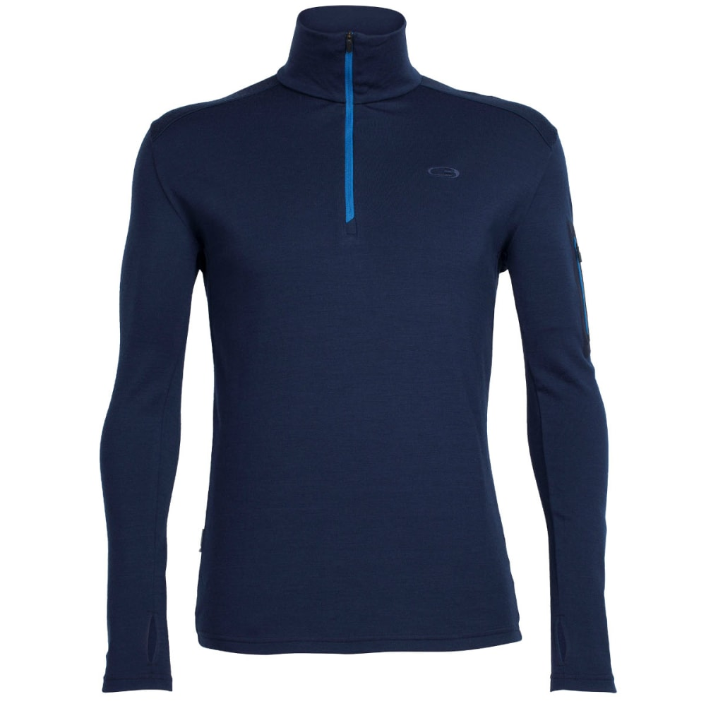 ICEBREAKER Men's Apex Long Sleeve Half Zip - ADMIRAL/ADMIRAL/PERL