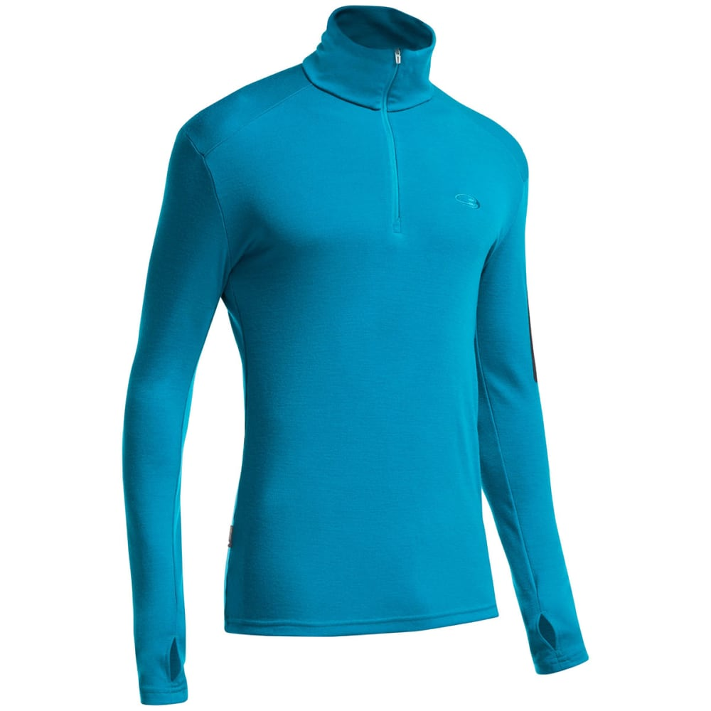 ICEBREAKER Men's Apex Long Sleeve Half Zip - ALPINE/ CARBON/ CARB