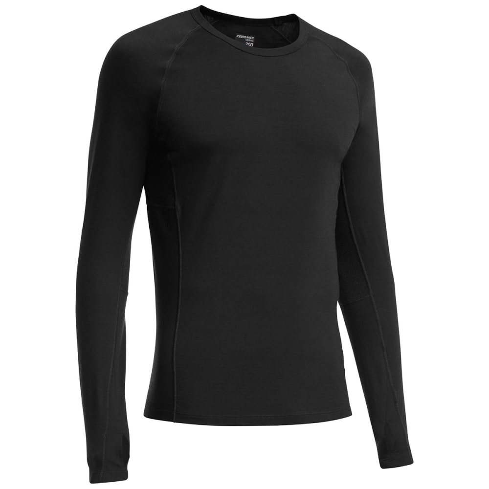 ICEBREAKER Men's Zone LS Crewe - BLACK/MONSOON