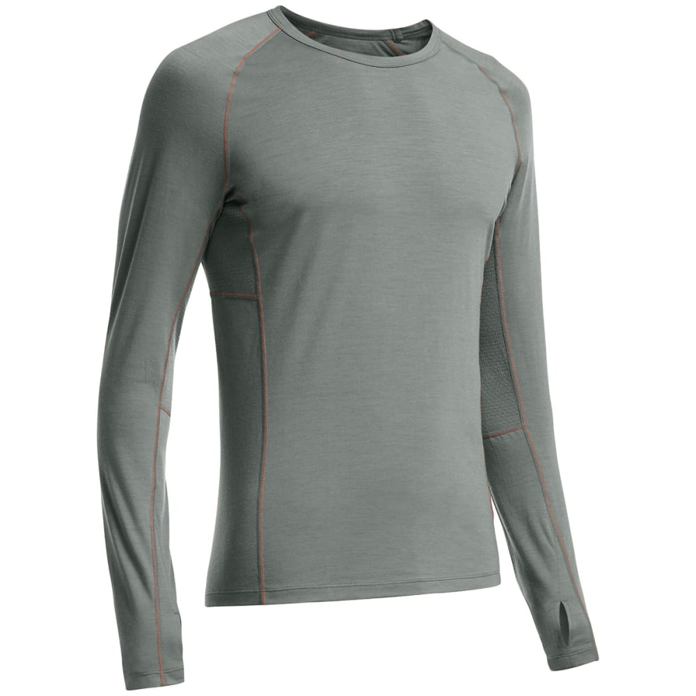 ICEBREAKER Men's BodyfitZONE Zone Long-Sleeve Crewe - METAL/ SPARK