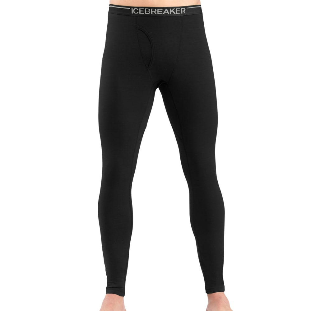 ICEBREAKER Men's Oasis Lightweight Leggings w/Fly - BLACK