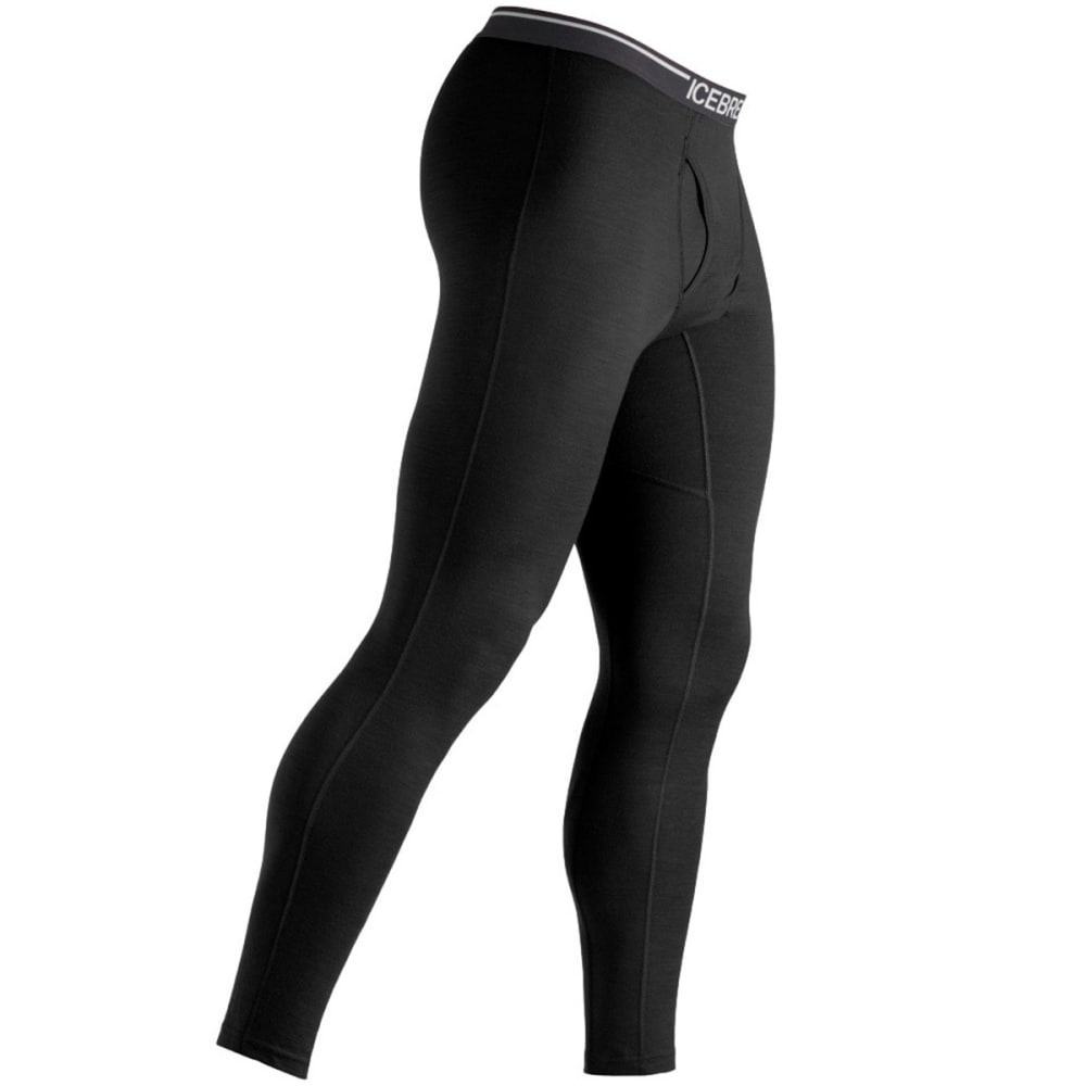 Icebreaker Men's Apex Leggings with Fly - BLACK