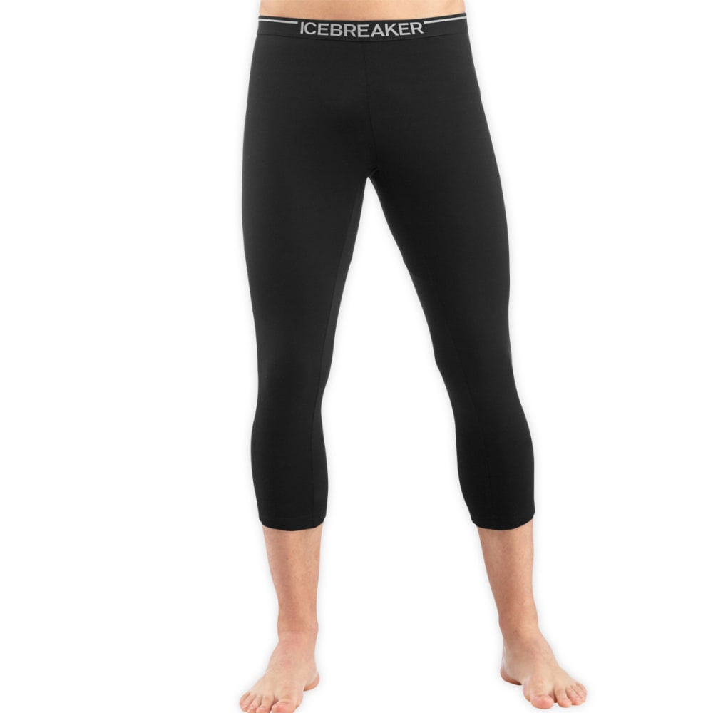 ICEBREAKER Men's Oasis Lightweight 3/4 Leggings - BLACK