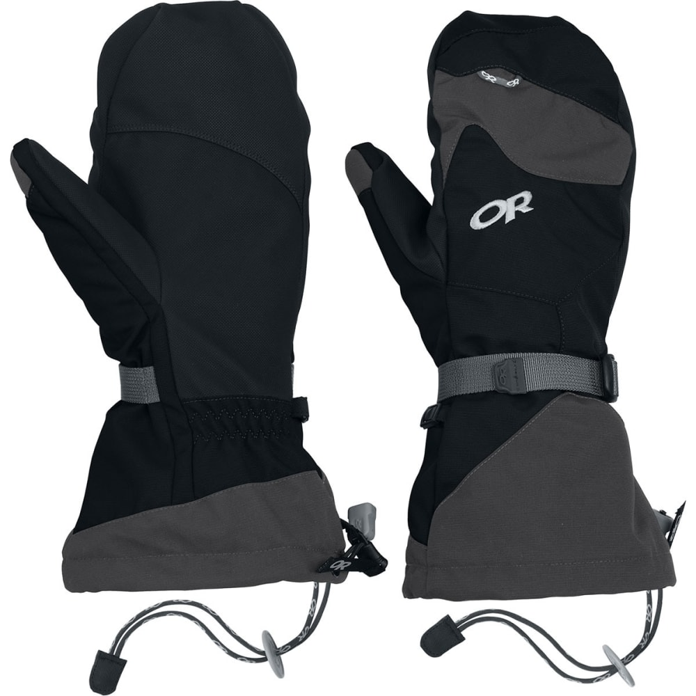 OUTDOOR RESEARCH Men's Meteor Mitts - BLACK/CHARCOAL
