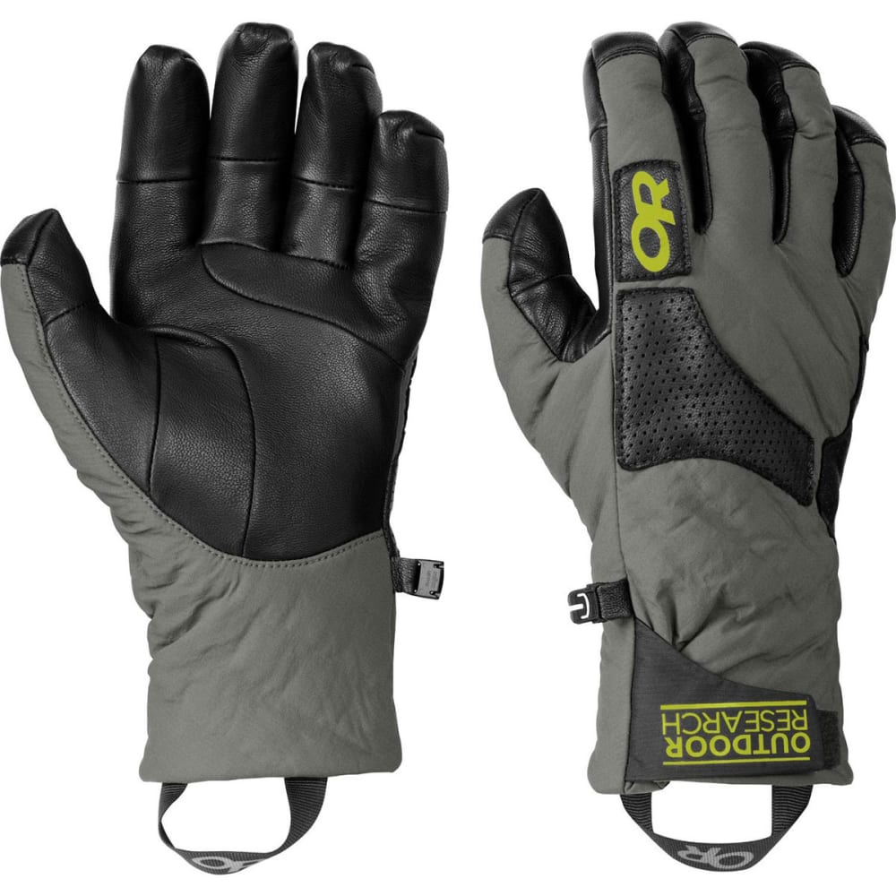 OUTDOOR RESEARCH Men's Lodestar Gloves - PEWTER/BLACK