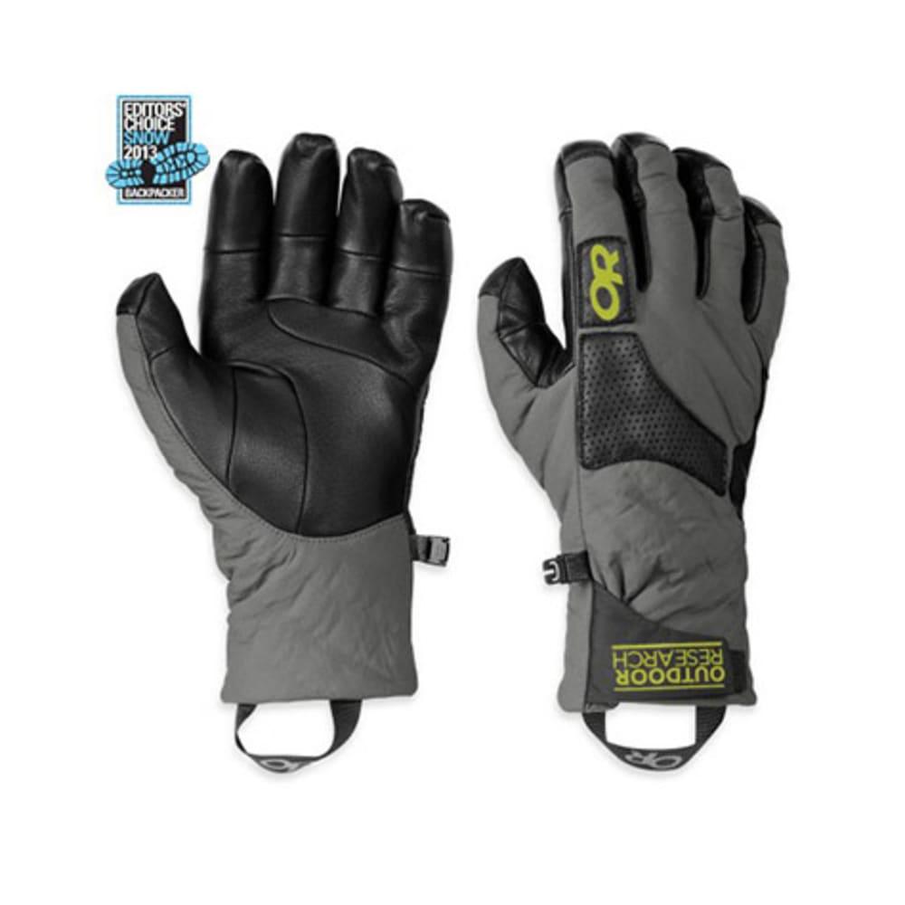 OUTDOOR RESEARCH Men's Lodestar Gloves - PEWTER/BLACK/LEMONGR