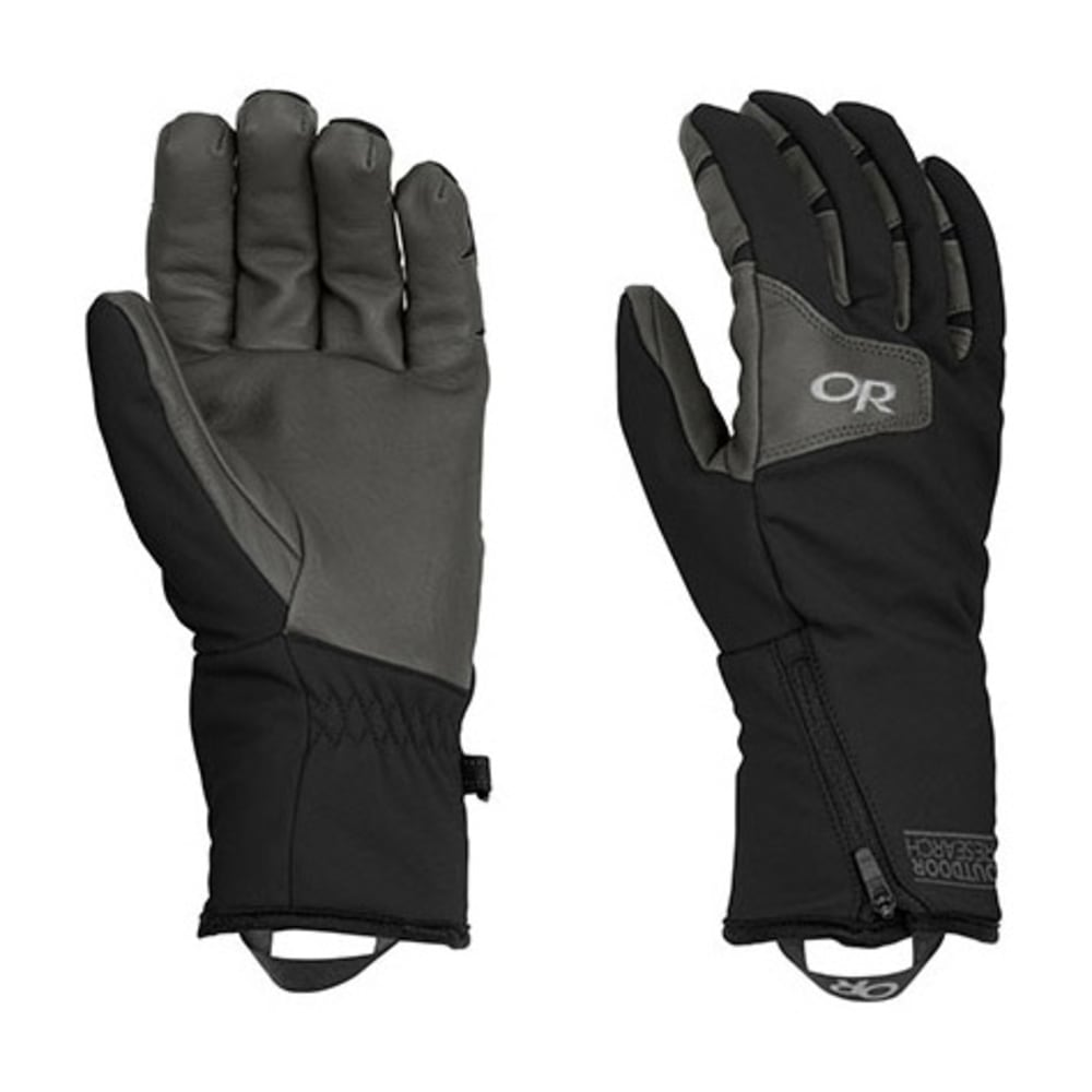 OUTDOOR RESEARCH Men's Stormtracker Gloves - BLACK/CHARCOAL