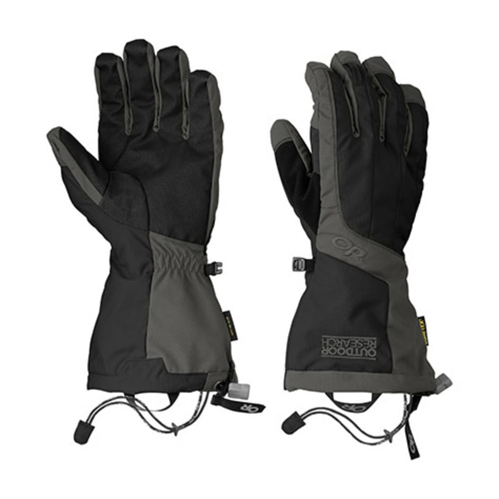 OUTDOOR RESEARCH Men's Arete Gloves - BLACK/CHARCOAL