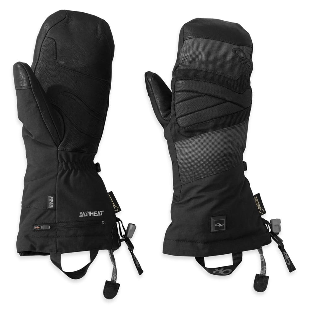 OUTDOOR RESEARCH Men's Lucent Heated Mitts - BLACK