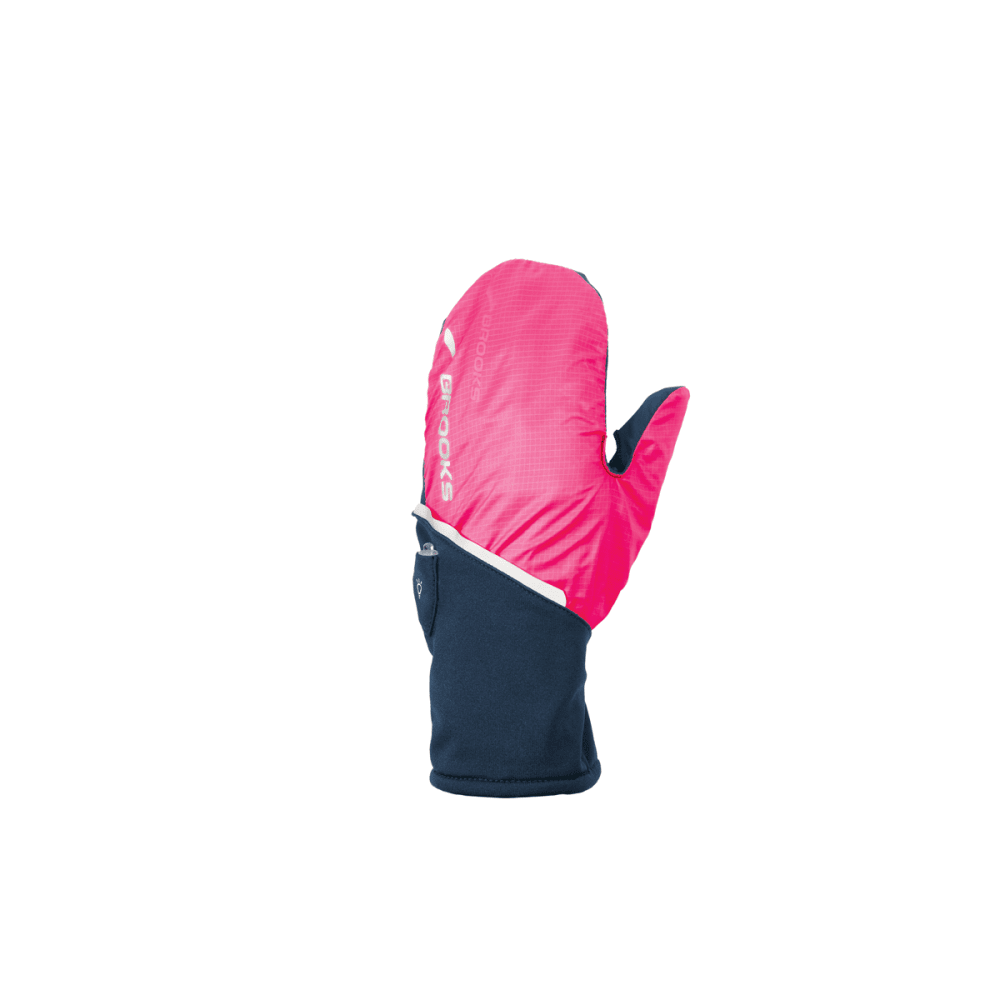 BROOKS Adapt Gloves II, Midnight/Brite Pink - NAVY