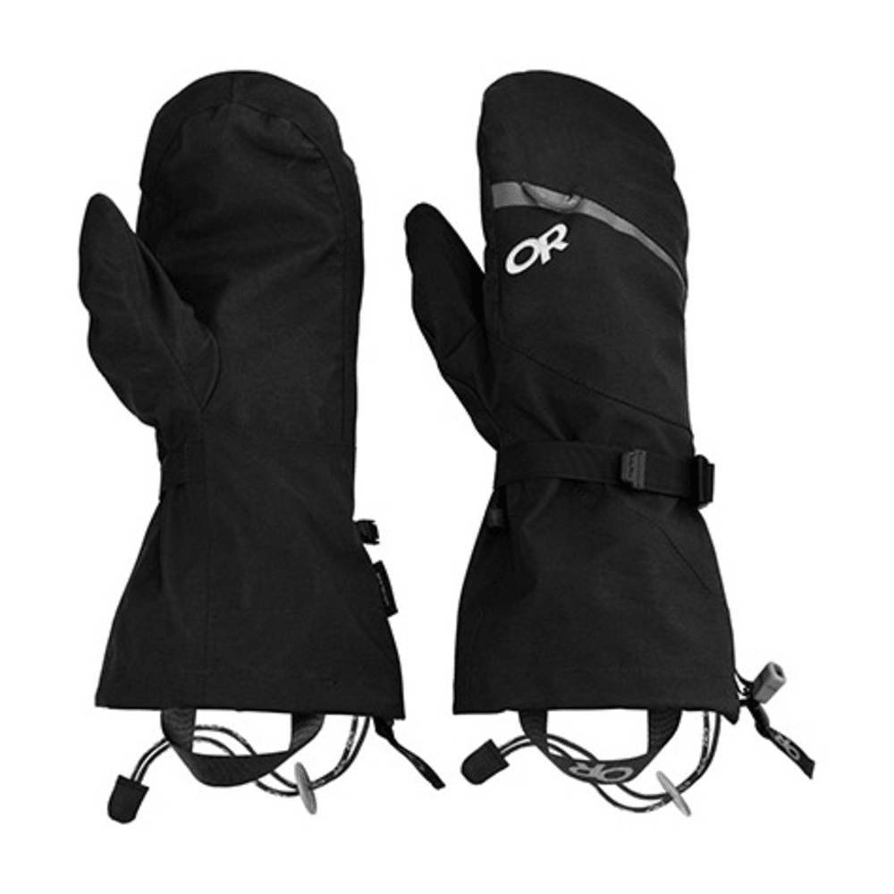 OUTDOOR RESEARCH Mt. Baker Shell Mitts - BLACK