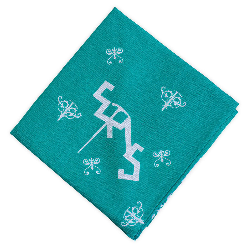 EMS Ice Axe Traditional Bandanna - SPECTRA GREEN/WHITE