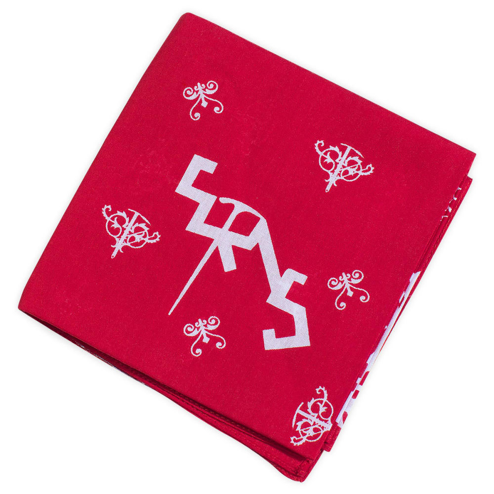 EMS Ice Axe Traditional Bandanna - PRECISION RED/WHITE