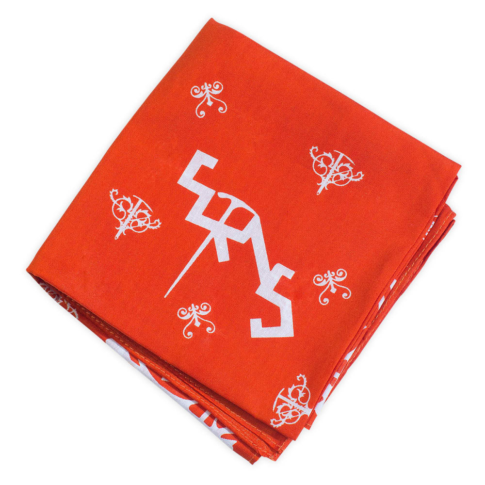 EMS Ice Axe Traditional Bandanna - ROBUST ORANGE/WHITE