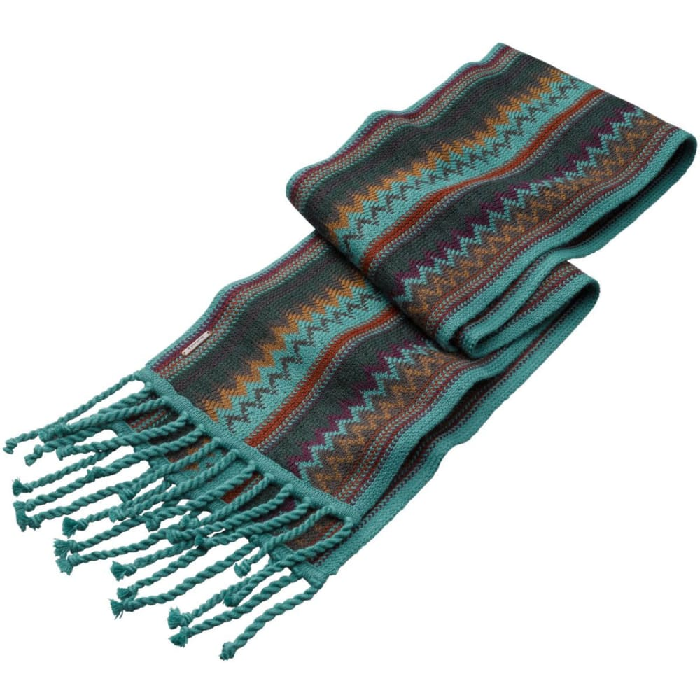 SMARTWOOL Women's Pine Lake Chevron Scarf - GREEN HEATHER