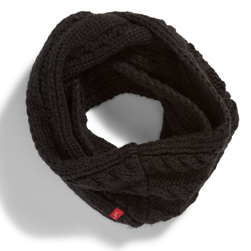 EMS® Cable Knit Infinity Scarf - JET BLACK