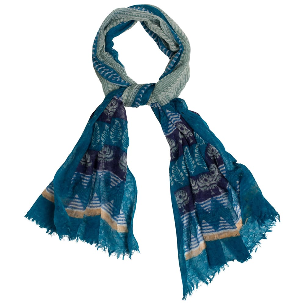 PRANA Women's Tassle Scarf - CAST BLUE